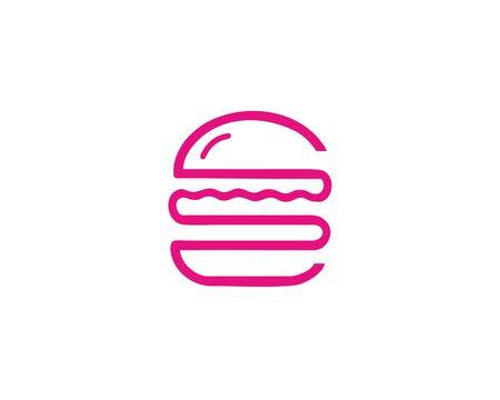 Burger pink logo 일러스트