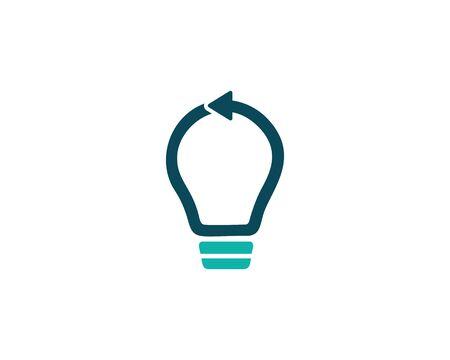 Bulb lamp logo