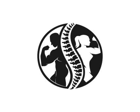 Chiropractic and fitness logo Banco de Imagens - 136621343