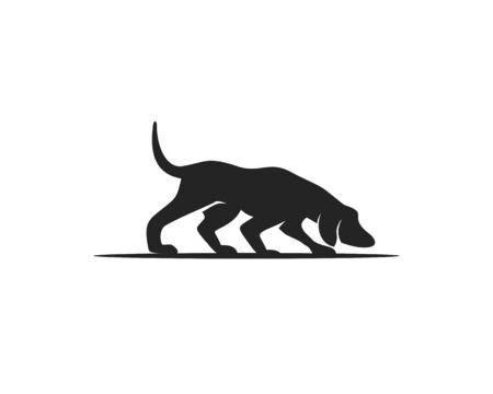 Dog Hound silhouette Ilustrace