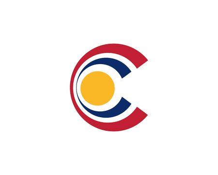 Letter C logo Banco de Imagens - 136621347