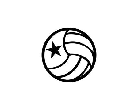 Volley ball vector Banco de Imagens - 136621353
