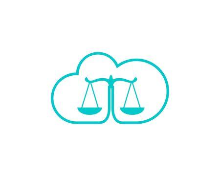Lawyer Cloud logo icon Banco de Imagens - 136621355