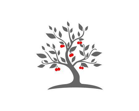 Cherry tree logo Ilustração