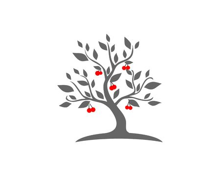 Cherry tree logo 일러스트