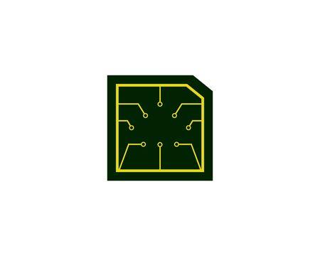 green Circuit Banco de Imagens - 136621365