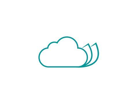Cloud Printing simple logo