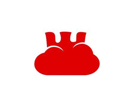 Cloud Fortes logo icon 일러스트