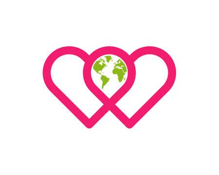 love the world global logo