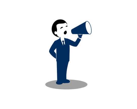 speak figure vector illustration