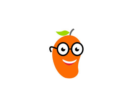 mango geek illustration logo