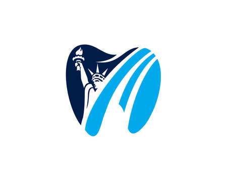 dental american blue color logo