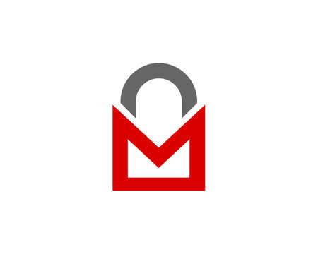 mail protection locked logo Ilustração