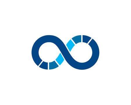 loading infinity icon vector