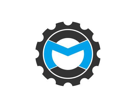 M gear logo icon