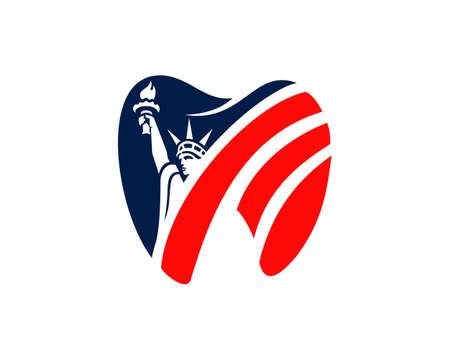 Liberty dental american logo Ilustração