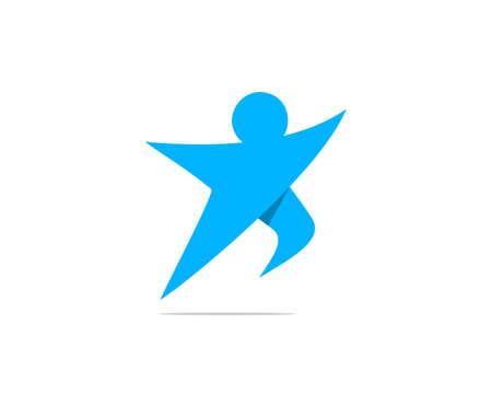 run jumping vector illustration Ilustração