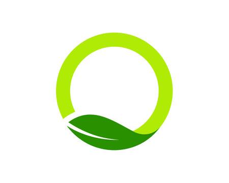 circle fresh leaf logo