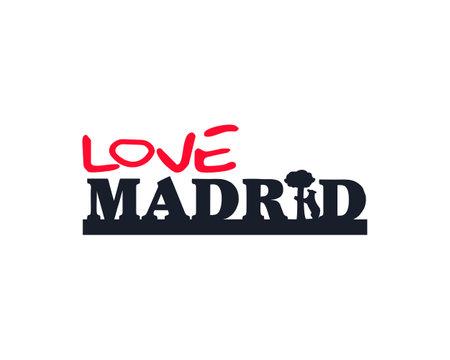 love madrid type vector
