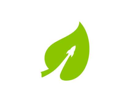 rocket green leaf Ilustração