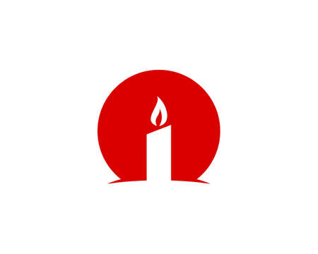 candle red simple icon