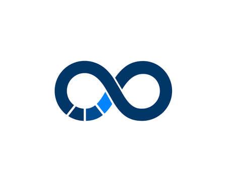 infinity blue vector