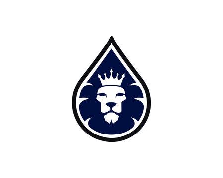 king lion water plump logo