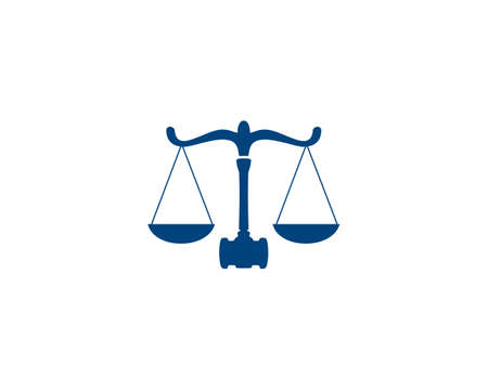 lawyer scale logo icon
