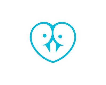 love bird logo vector