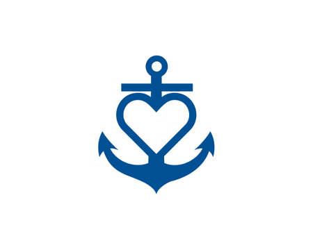 anchor boat love vector