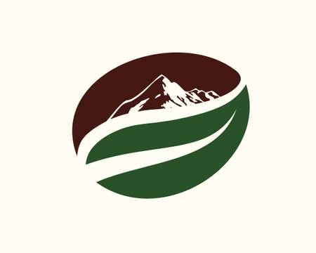 mountain coffee simple logo