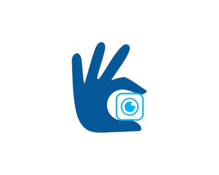 mini camera illustration logo