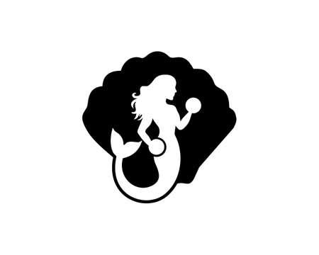 mermaid fitness logo Ilustração