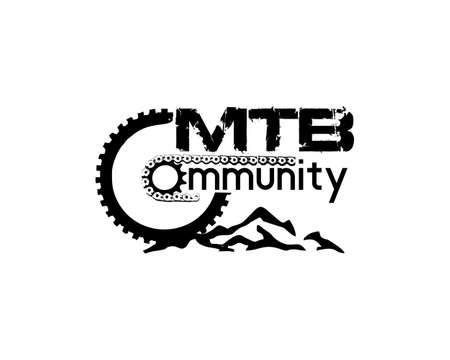 Mountain Bike community logo Ilustração