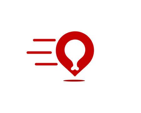 fast food meet logo icon Ilustração