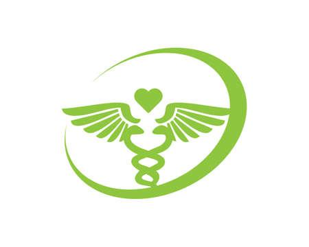 caduceus medical care logo