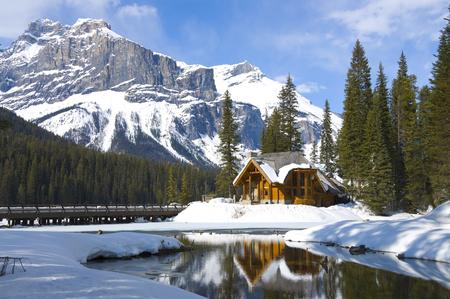 Emerald lake Chalet, Yoho National Park, British Columbia, Canada