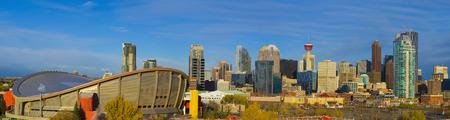 City sky line showcasing the Tower and Hockey arena