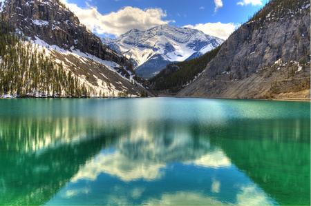 High Dynamic range of a fresh mountain Lake on a clear day