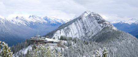 Sulphur Mountain Panorama Popular tourist destination Banff National Park, Alberta, Canada