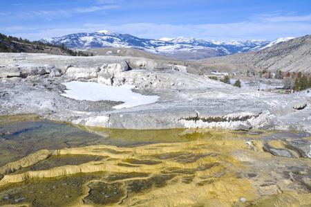 Mesa rock patterns at mamoth hot springs in Yellowstone national park Reklamní fotografie