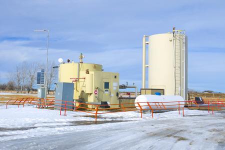 Oil separator on the prairie of Alberta Redakční