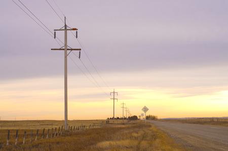 Haul Road in the Prairies Reklamní fotografie