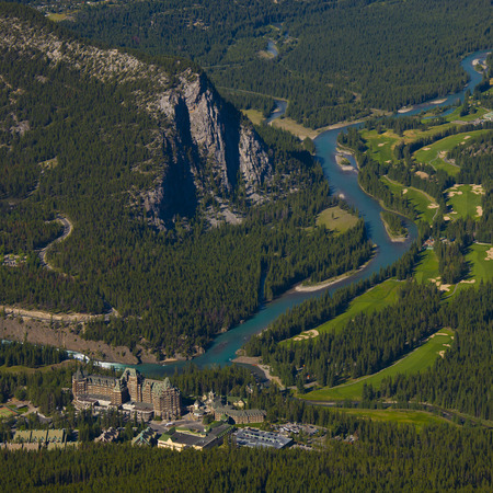 The town of Banff National Park, Alberta, Canada