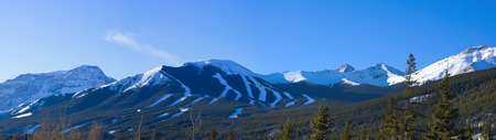 ski hill in the canadian rockies