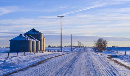 winter scene on the farm 版權商用圖片