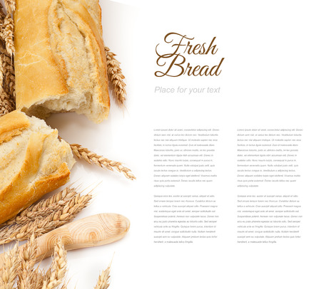 baguettes isolated over white