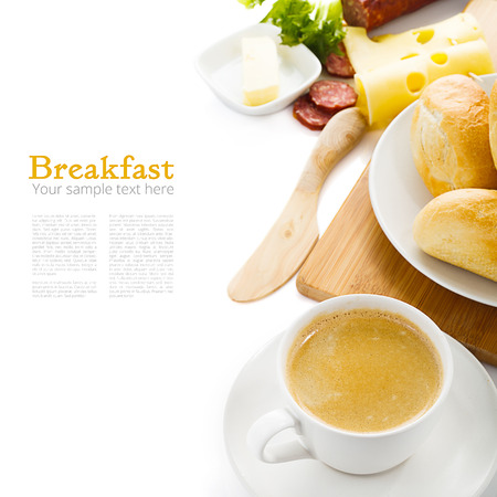 Breakfast background with sample text photo