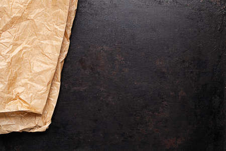 baking paper on old rustic background