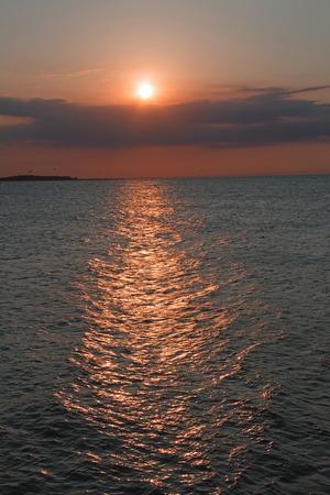 Sunset Fehmarn in summer